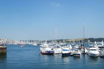 There are thousands of boats moored in Falmouth's sheltered marinas.