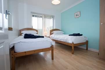 The ground floor twin bedroom.
