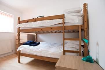 The ground floor bunk-bedroom.