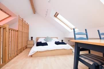 The second floor double bedroom.