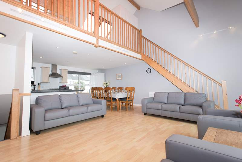 The open plan living area.