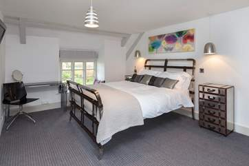 Upstairs there are three double bedrooms - this is the master bedroom which has an ensuite shower room