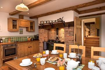 The kitchen dining room really is the heart of the home