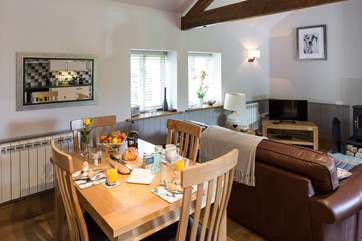 The open plan interior creates a very sociable space.
