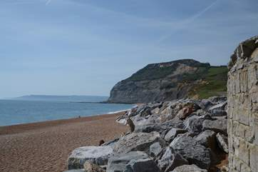 Golden Cap, looking from the beach at Seatown.