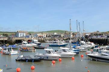 West Bay is a short drive from Phoebes House, it still has an active fleet of fishing boats.