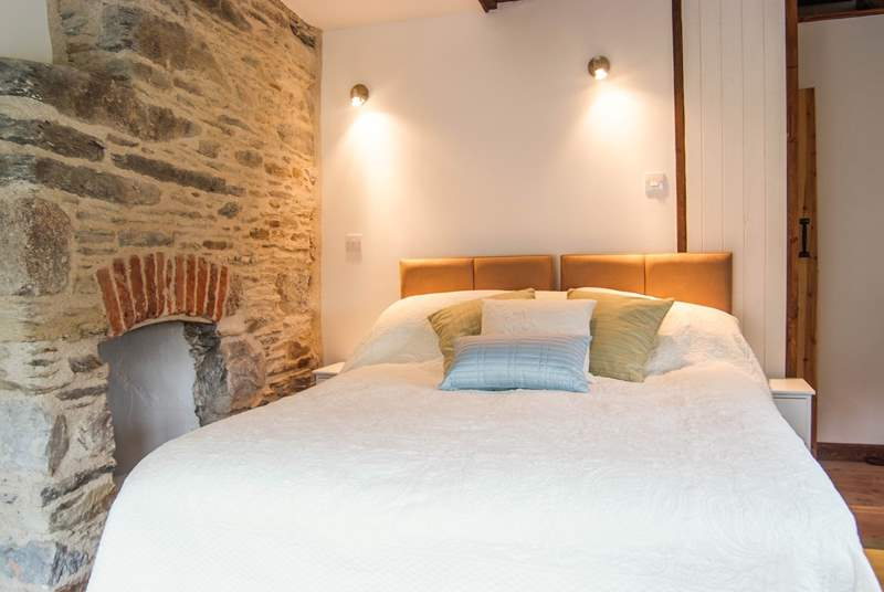 Lovely stonework in the bedroom.