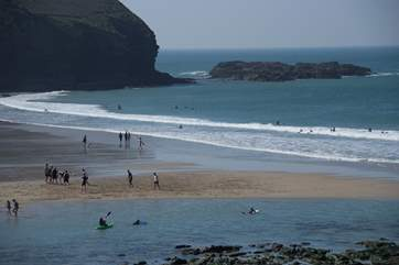 The fabulous beach at nearby Portreath has something for everyone whether you like to build sandcastles or surf the waves!