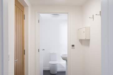 The cloakroom is on the ground floor just off the kitchen.