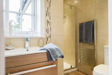The en suite shower-room to the master bedroom (Bedroom 1).
