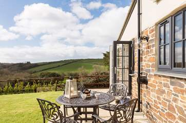 The views over the surrounding countryside including the Penrose Estate down to the Loe.