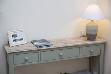 A console table in the living-room.
