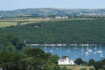 The Helford River is just a short distance from the cottage (not the view from the property).