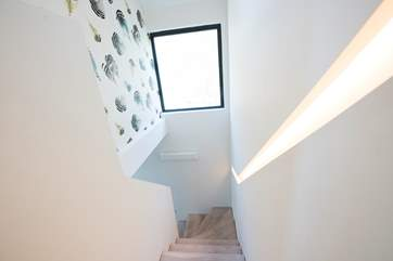 Even the stairs are a design feature.