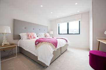Bedroom two with a super-king size double bed which can also be two three-foot single beds on request.