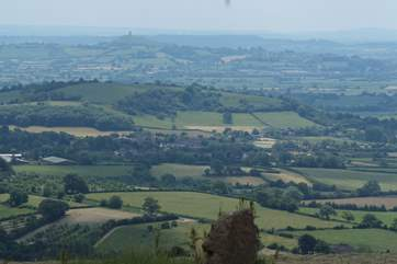 Somerset is a beautiful and varied county, this image is taken from high up on the Mendip Hills and looks right out across the Somerset Levels.