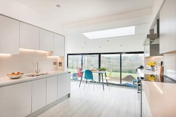 The fabulous kitchen/family-room extension at the back of the house.