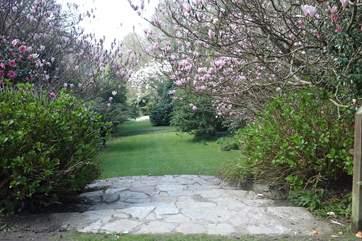 Explore the beautiful gardens around the hotel.