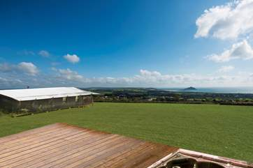 We have computer generated these images to give you an idea of how outstanding this brand new luxury glamping site will be. Each has its own hot tub and each has 180 degree sea views.