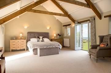 The master bedroom is huge!