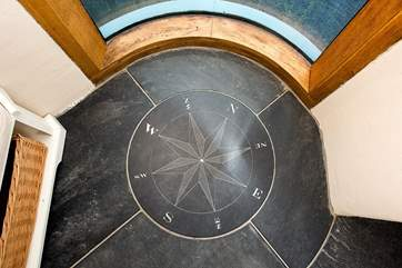 Where shall we go today, the compass in the entrance hall will ensure you set off in the right direction!