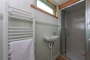 It wouldn't be glamping without an en suite shower-room with flushing loo and hot and cold running water!