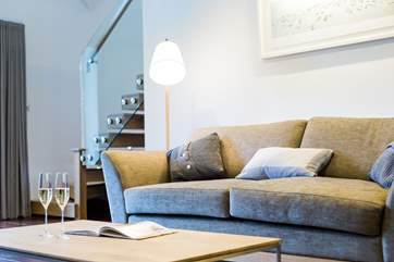 Comfy sofas after a day out on the golf course or exploring this unspoilt and beautiful area of Cornwall.