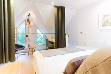 The bedroom on the top floor is something rather special.