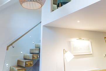 The staircase from the second to third floors is a real design statement.