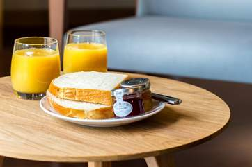 Breakfast at home or pop across to the hotel.