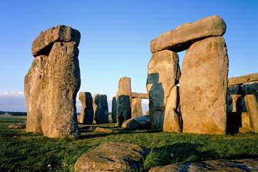 Prehistoric Stonehenge is a 40 minute drive,(photograph copyright English Heritage).