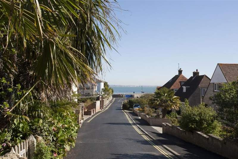 Just yards from the sea!