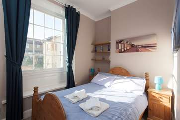 Get a good nights sleep in the comfy double bed