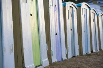 Ventnor beach is a great suntrap, why not hire out a beach hut and spend the day down the beach