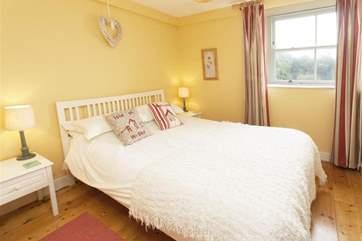 Get a good nights sleep in the peaceful double bedroom