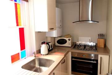 Cadogan compact but fully equippedkitchen