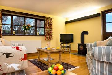 Light and airy living area. Perfect for those cosy nights in.