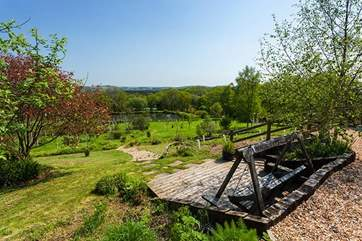 Picture yourself here! What a breathtaking spot within the extensive grounds.