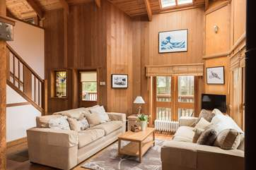 The house was built using a mixture of birch, pine, American redwood, cedar and Douglas fir sourced from Scandinavia, north America and Britain.