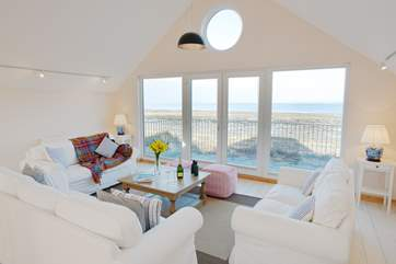 A wonderful place to relax and look over the Solent, with double opening doors onto the balcony.