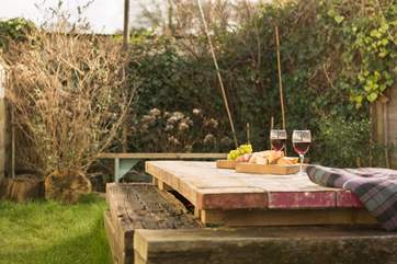 It may be small in size but there is room to relax with a glass before heading over the road for a drink in the pub.