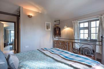 The bedrooms are opposite each other across the landing.