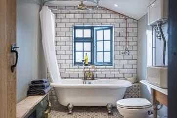 The fabulous bathroom.