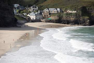 Portreath beach is dog-friendly from October to Easter, at other times you can head to Mexico Towans at Gwithian or to many other locations.
