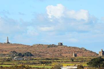 Nearby Carn Brea can be reached by the network of mining trails close to the cottage, walk or cycle to explore this fascinating area rich in mining history.