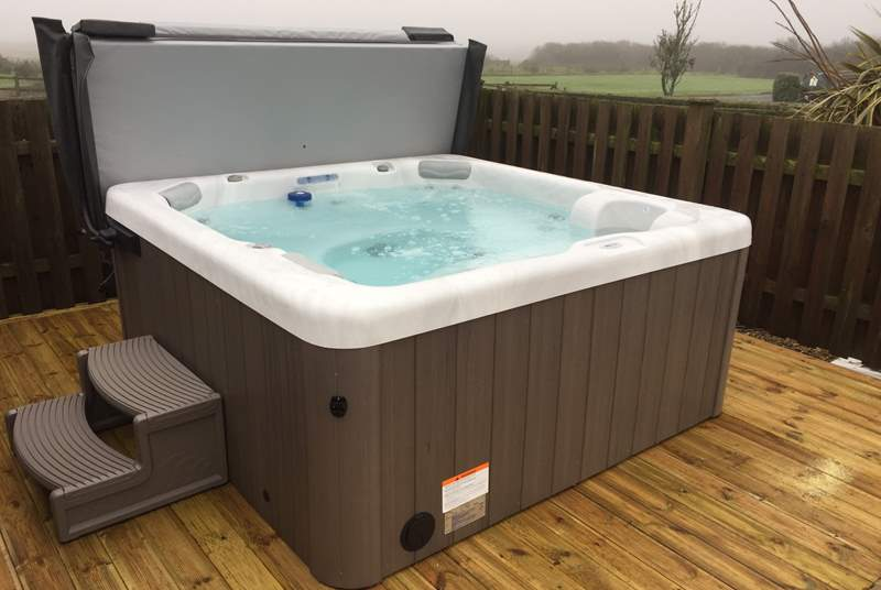 The hot tub is open all year.