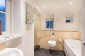 The family bathroom on the ground floor (Bedroom 1 upstairs has an en suite shower-room).