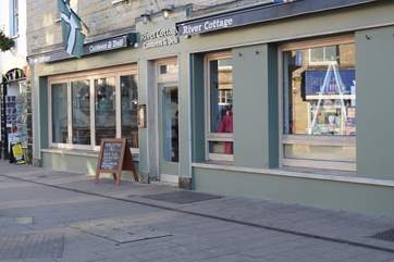 The River Cottage Canteen and Deli is in nearby Axminster.