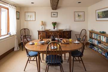 The spacious dining area.