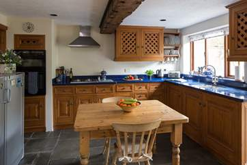 Everything you could need in this family kitchen to conjur up a holiday feast.